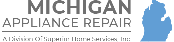 Michigan Appliance Repairs logo – We service all makes and models of appliances throughout lower Michigan.